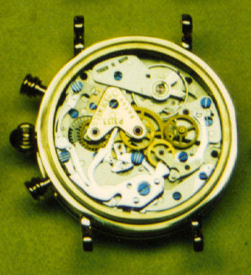 View of Poljot 3133 movement